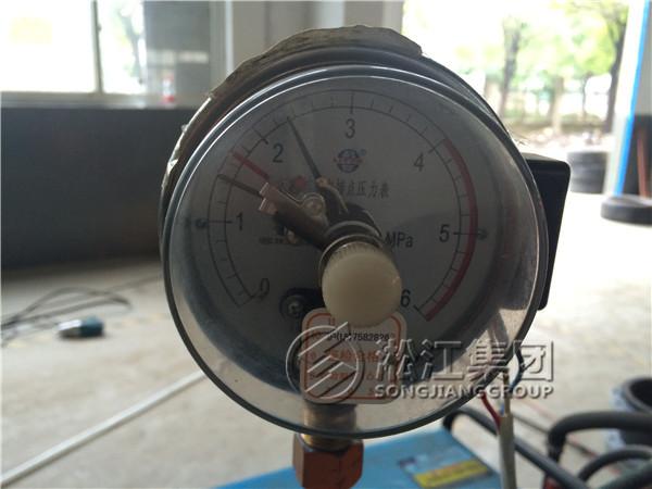上海淞江不锈钢金属软连接压力检测:25kg