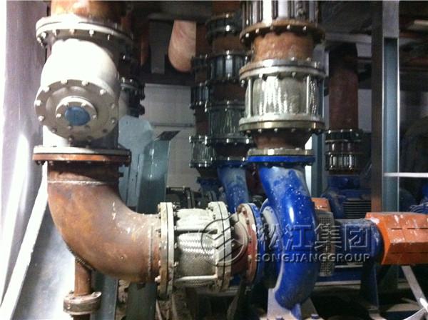 不锈钢金属软连接在无锡恒隆广场暖通系统的安装案例